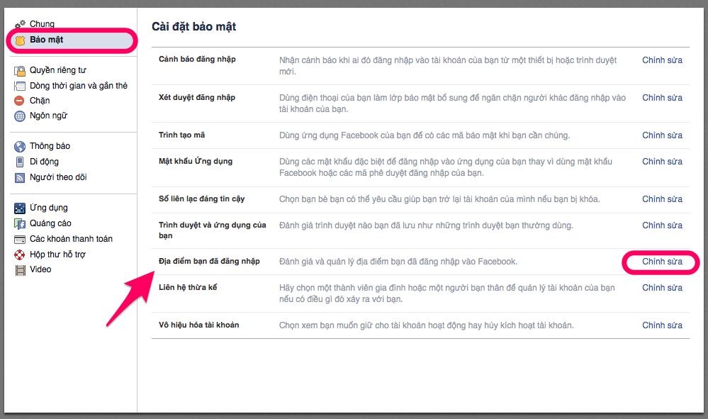 đăng xuất ứng dụng trên facebook