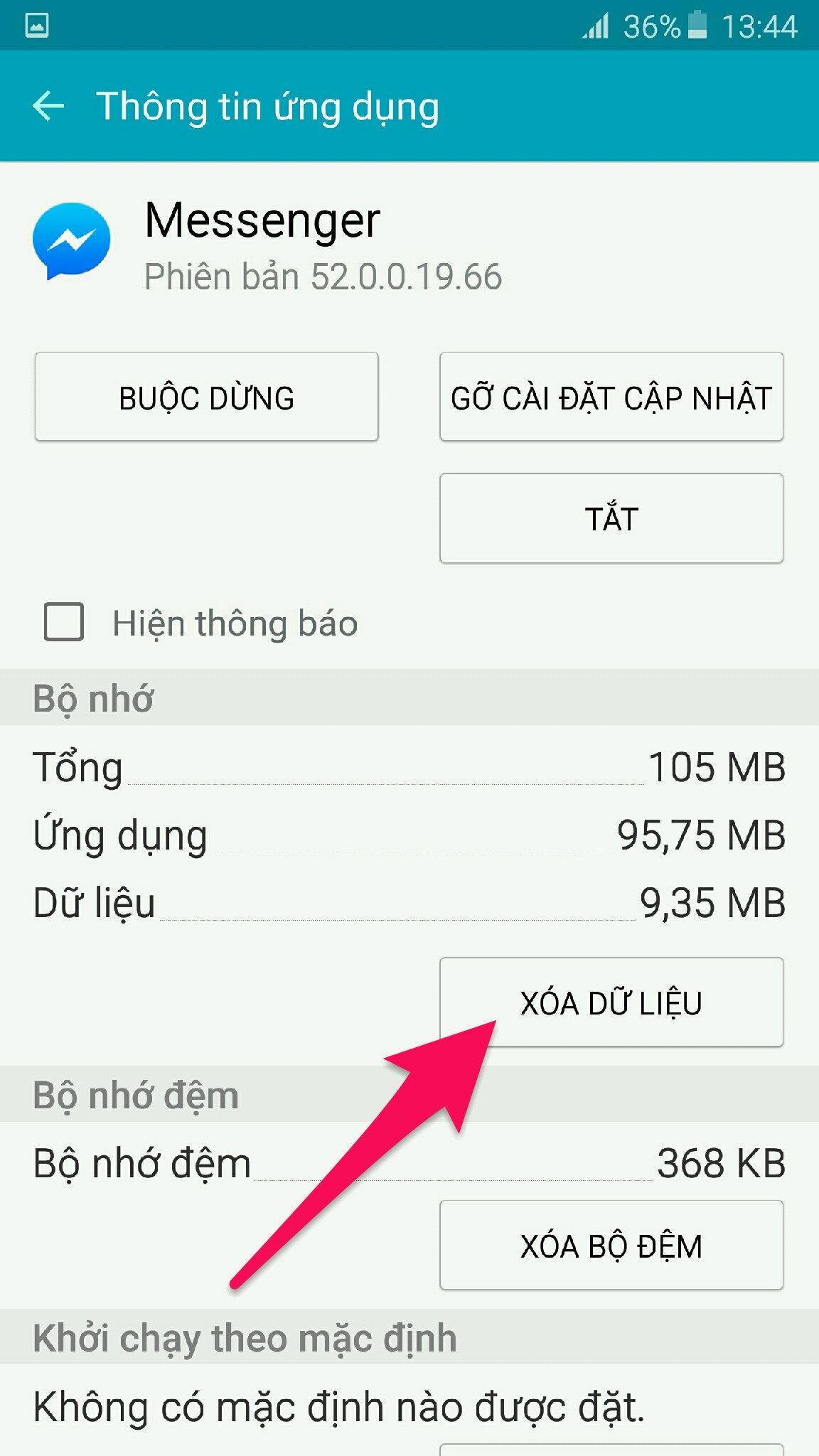 thông tin ứng dụng messenger