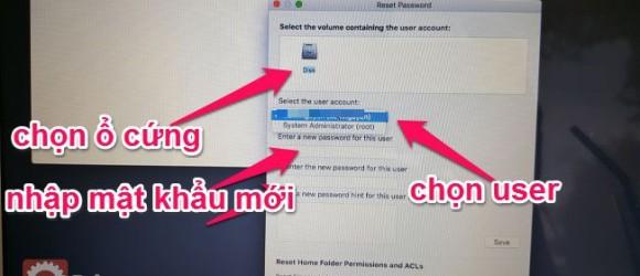 reset password macos
