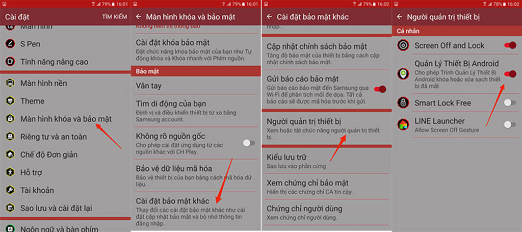 cài đặt android device manager