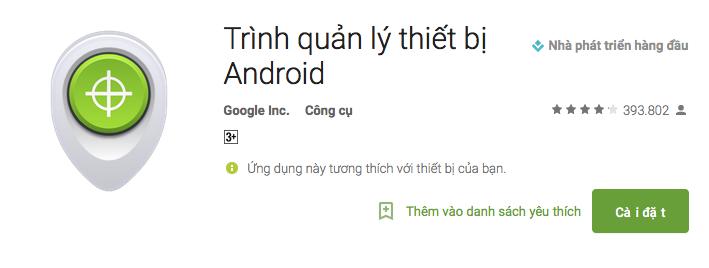 quản lý thiết bị android