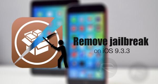 gỡ bỏ jailbreak ios 9.3.3