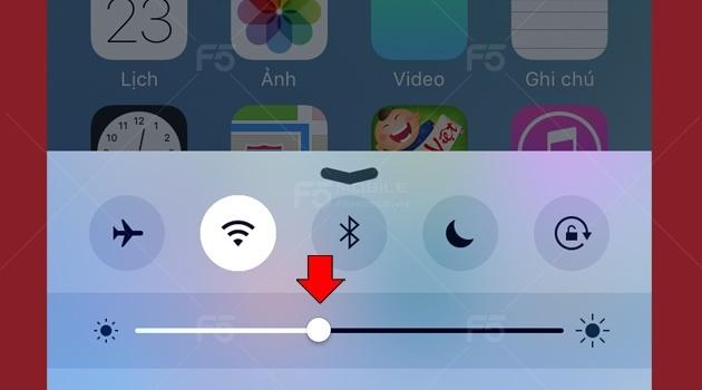 giảm anh sáng trên iphone