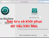 Sao lưu và khôi phục dữ liệu trên Mac