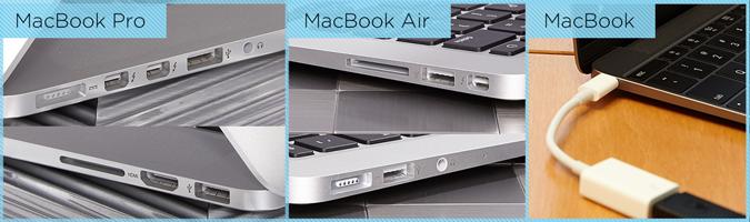 các phiên bản macbook