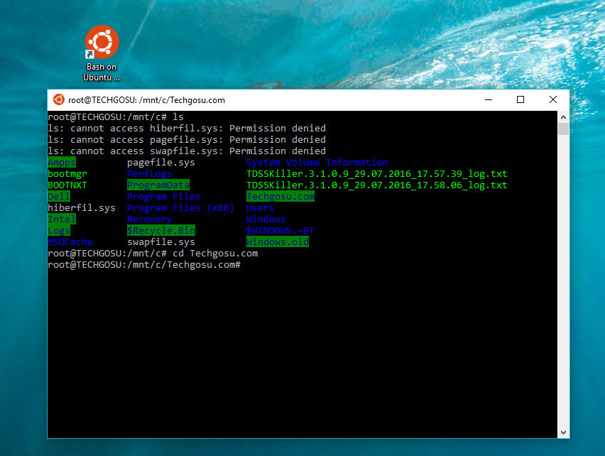cài đặt linux bash shell