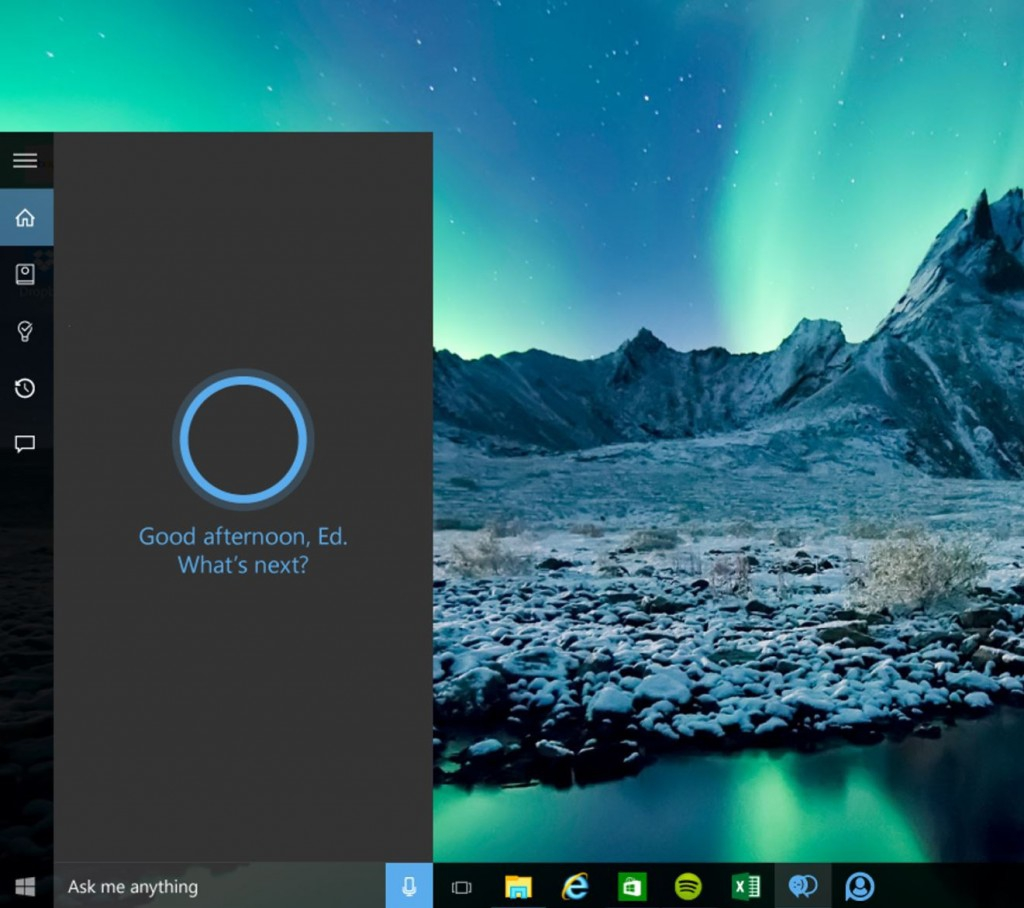 cortana windows 10 anniversary