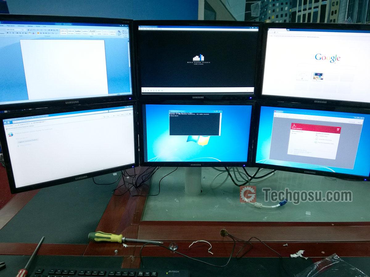 máy tính chạy 6 màn hình