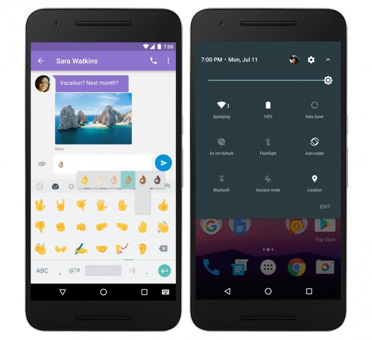 điện thoại chạy android 7.0