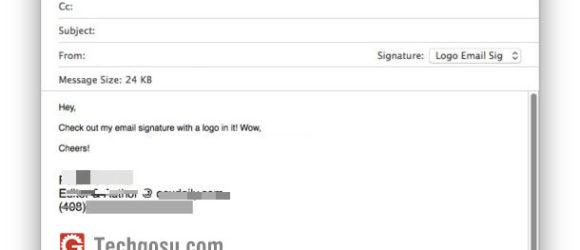 chèn chữ ký mail macos