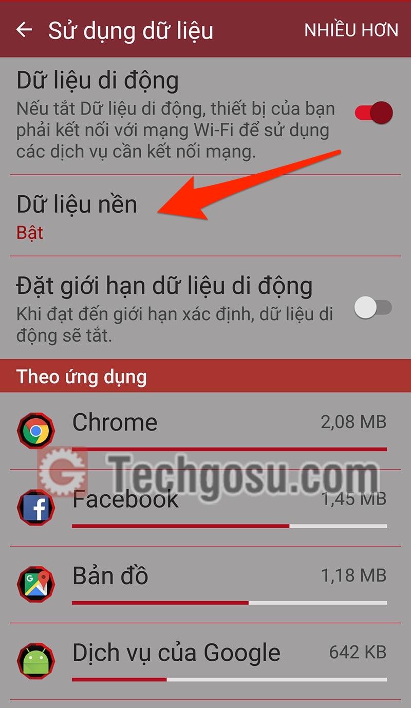 tiết kiệm dữ liệu 3G