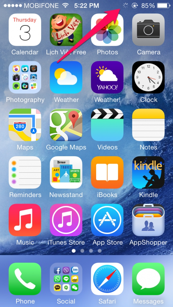 sử dụng iphone