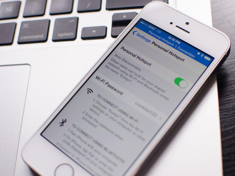 phát wifi trên iphone chạy ios 9