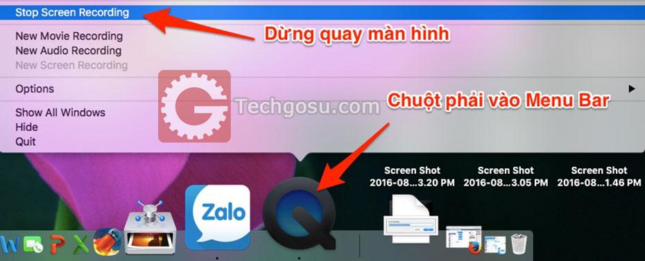 Cách quay màn hình Mac