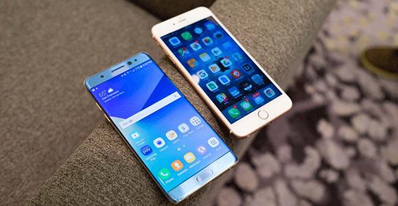 thử độ bền note 7 với iphone 6 plus