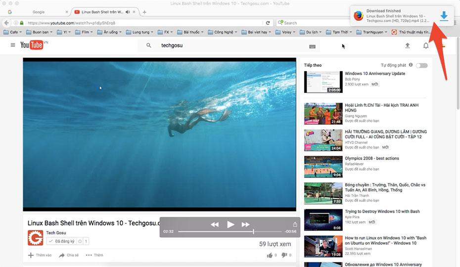 Cách tải video trên youtube