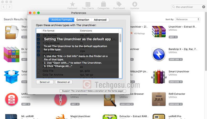 phần mềm giải nén cho macbook