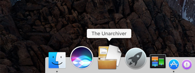 the unarchive mac osx