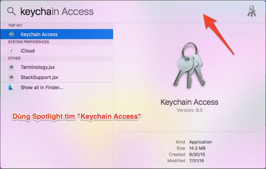 tìm mật khẩu wifi tren mac os x