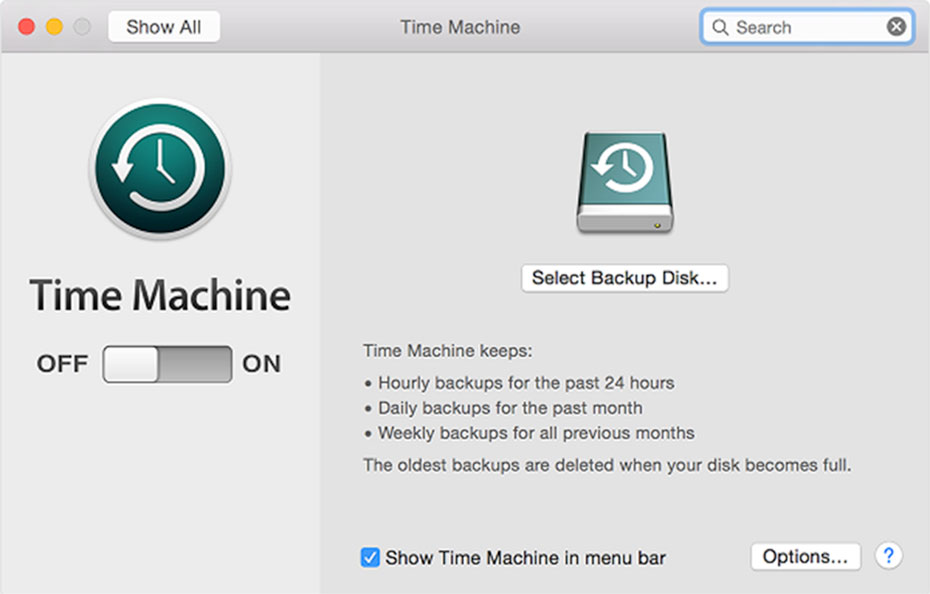cài đặt time machine