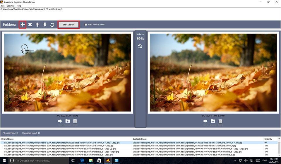 tìm kiếm hình ảnh trên windows 10