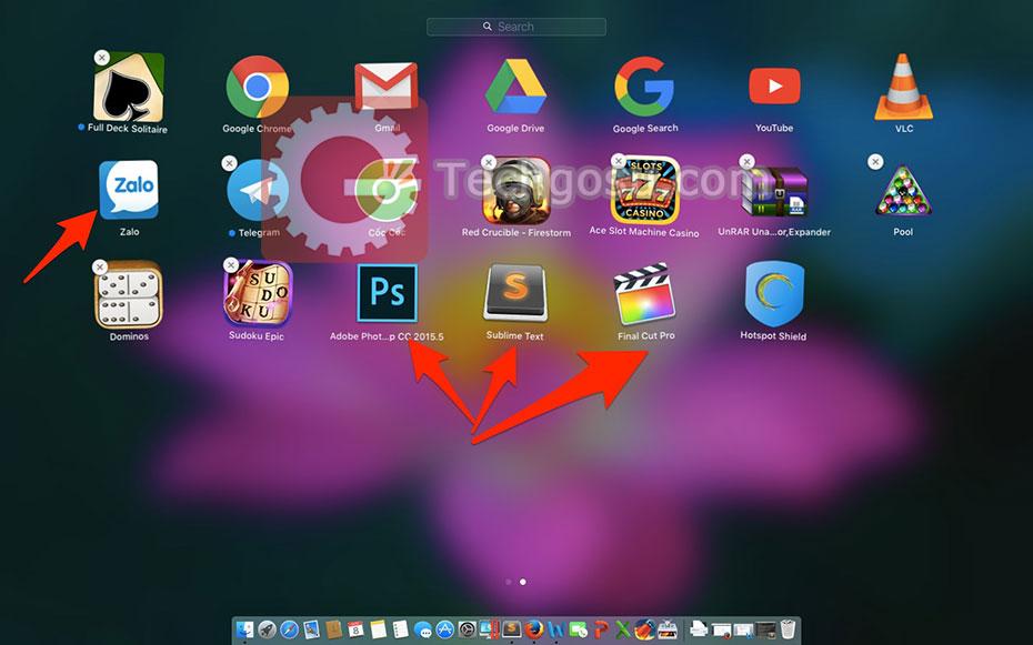 Cách xoá ứng dụng trên Mac OS X