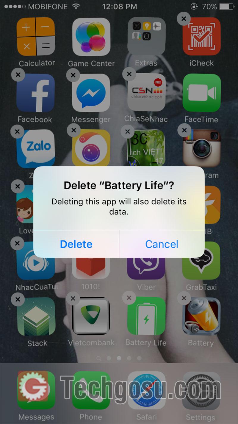 xóa ứng dụng iphone