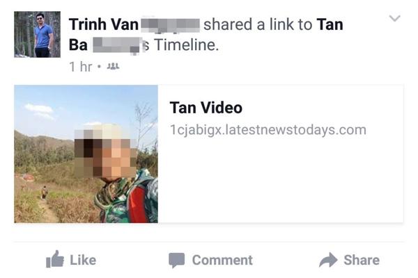 tài khoản facebook dính virus