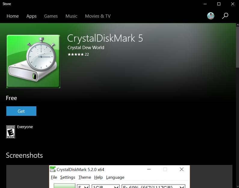 phần mềm crystaldiskmark