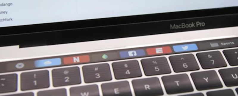 oled touchbar trên macbook pro 2016