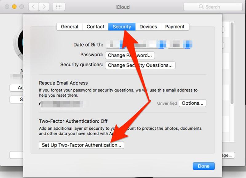 bảo mật iCloud bằng xác minh 2 bước