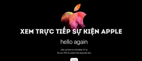 live sự kiện apple