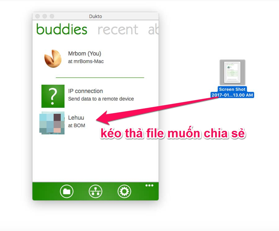 phần mềm dukto chia sẻ file