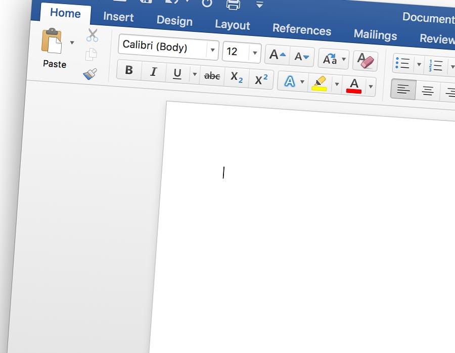 font chữ mặc định của word trên mac osx