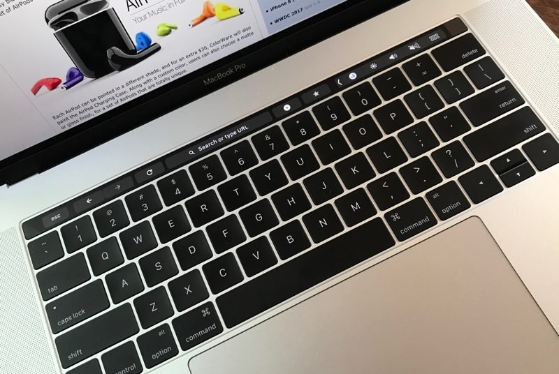 chrome 58 hổ trợ macbook pro 2016 touch bar