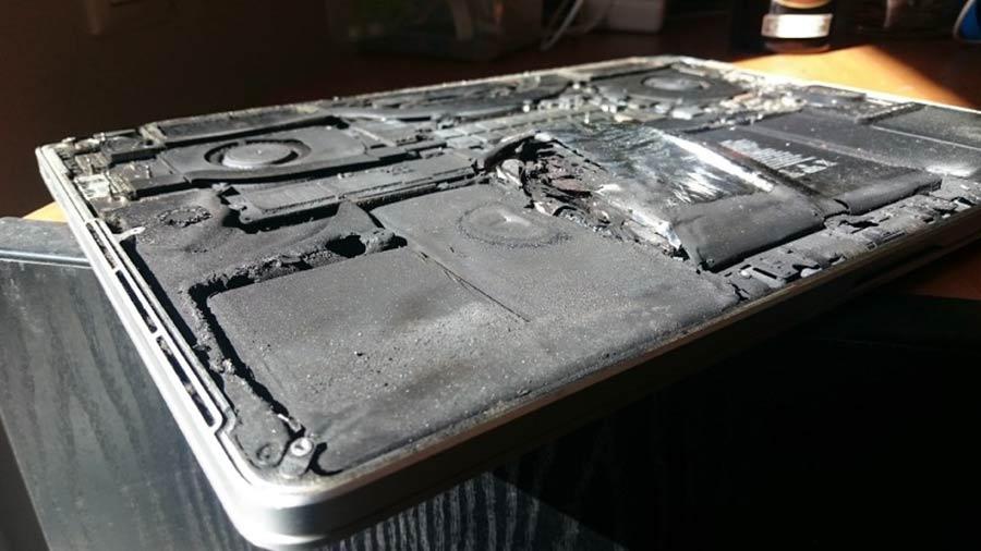macbook pro retina 2015 phát nổ