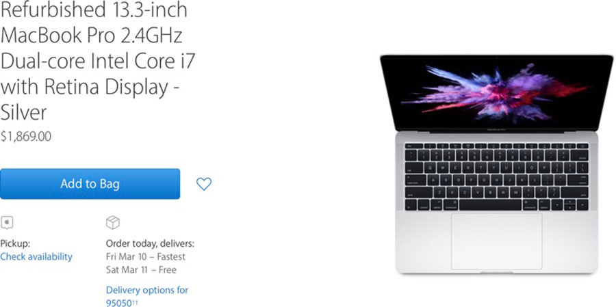 refurbished macbook pro 2016