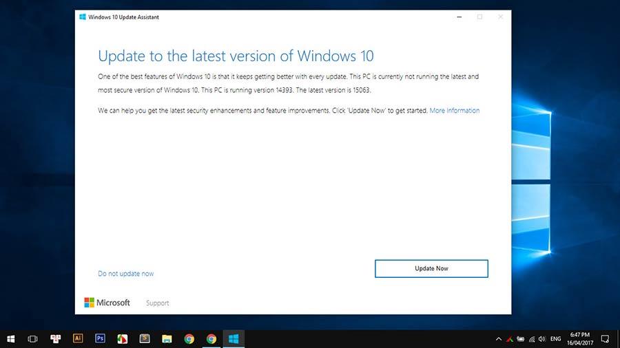 cập nhật windows 10 creators