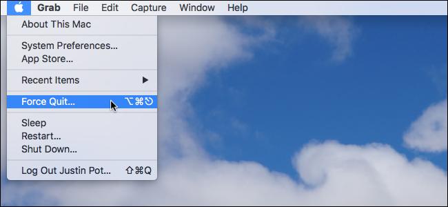 force quit trên mac