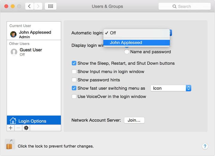 thay đổi tên người dùng trên macbook, imac