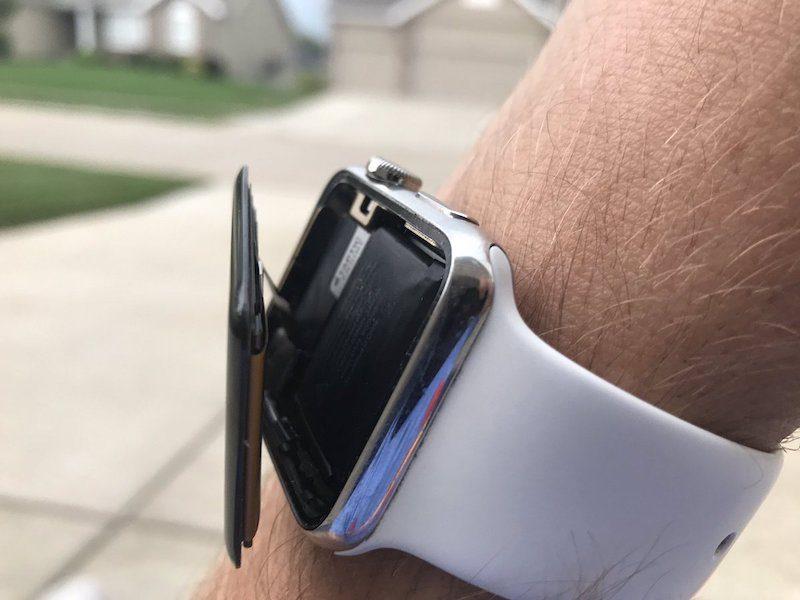 apple watch bị phồng pin nứt màn hình
