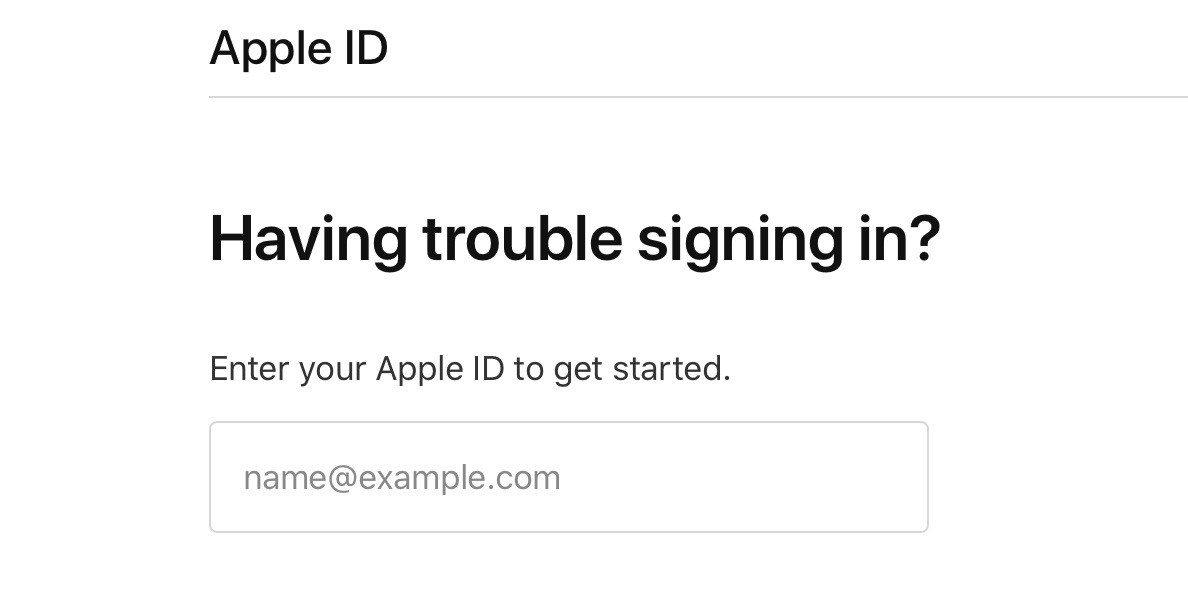 mở khoá tài khoản apple id